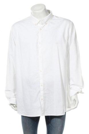 Мъжка риза River Island, Размер XXL, Цвят Бял, 100% памук, Цена 30,21лв.