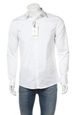 Ανδρικό πουκάμισο Tiger Of Sweden, Μέγεθος L, Χρώμα Λευκό, 66% βαμβάκι, 30% πολυαμίδη, 4% ελαστάνη, Τιμή 23,09€