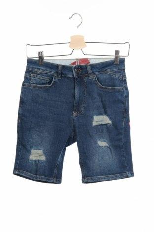 Мъжки къс панталон 11 Degrees, Размер XS, Цвят Син, 98% памук, 2% еластан, Цена 18,48лв.