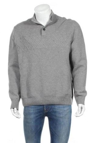Мъжки пуловер Chaps, Размер XL, Цвят Сив, Памук, Цена 7,35лв.