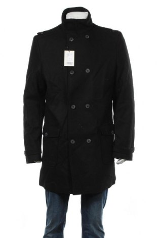 Ανδρικά παλτό Kiomi, Μέγεθος XL, Χρώμα Μαύρο, 60% μαλλί, 40% πολυεστέρας, Τιμή 44,81€