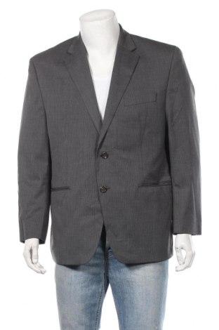 Мъжко сако Chaps, Размер XL, Цвят Сив, 52% вълна, 46% полиестер, 2% еластан, Цена 8,19лв.