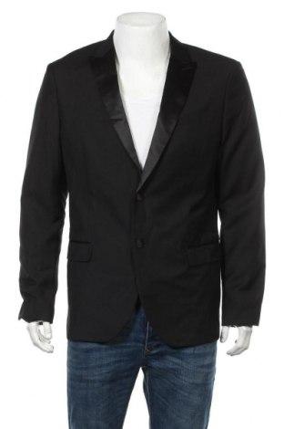 Мъжко сако Pier One, Размер L, Цвят Черен, 80% полиестер, 20% вискоза, Цена 29,29лв.