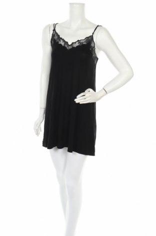 Пижама Even&Odd, Размер S, Цвят Черен, 94% вискоза, 6% еластан, Цена 32,13лв.