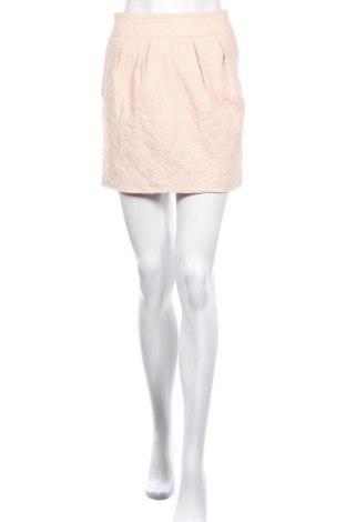 Пола Zara, Размер XS, Цвят Бежов, 56% памук, 42% вискоза, 2% еластан, Цена 4,75лв.