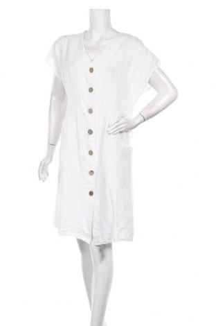 Φόρεμα Made In Italy, Μέγεθος M, Χρώμα Λευκό, Λινό, Τιμή 8,42€