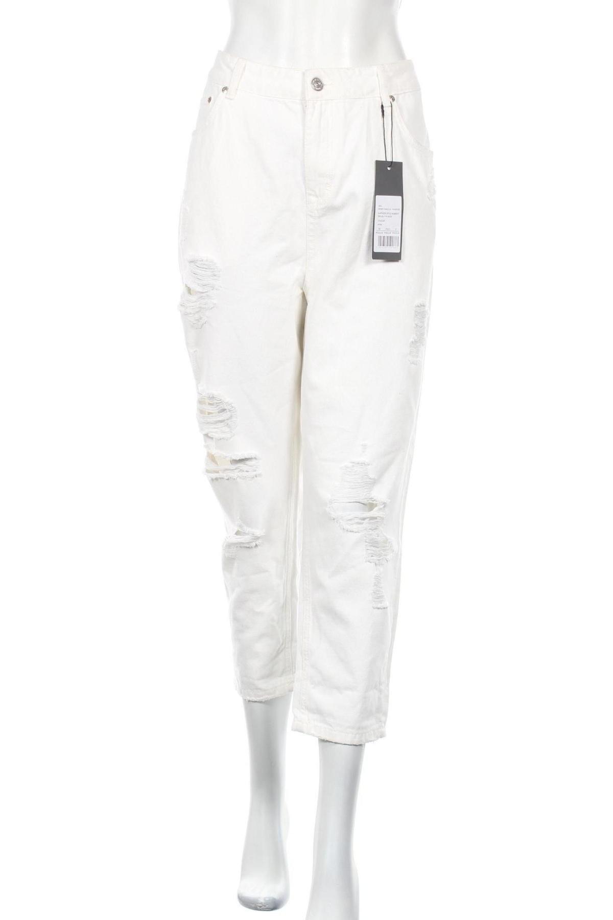 Дамски дънки Brooklyn's Own by Rocawear, Размер XL, Цвят Бял, Памук, Цена 42,75лв.