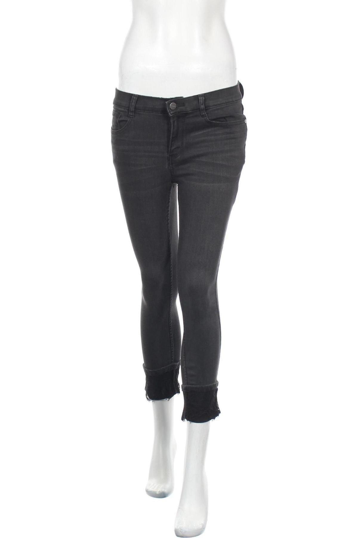Дамски дънки DKNY, Размер S, Цвят Сив, 80% памук, 18% полиестер, 2% еластан, Цена 97,90лв.