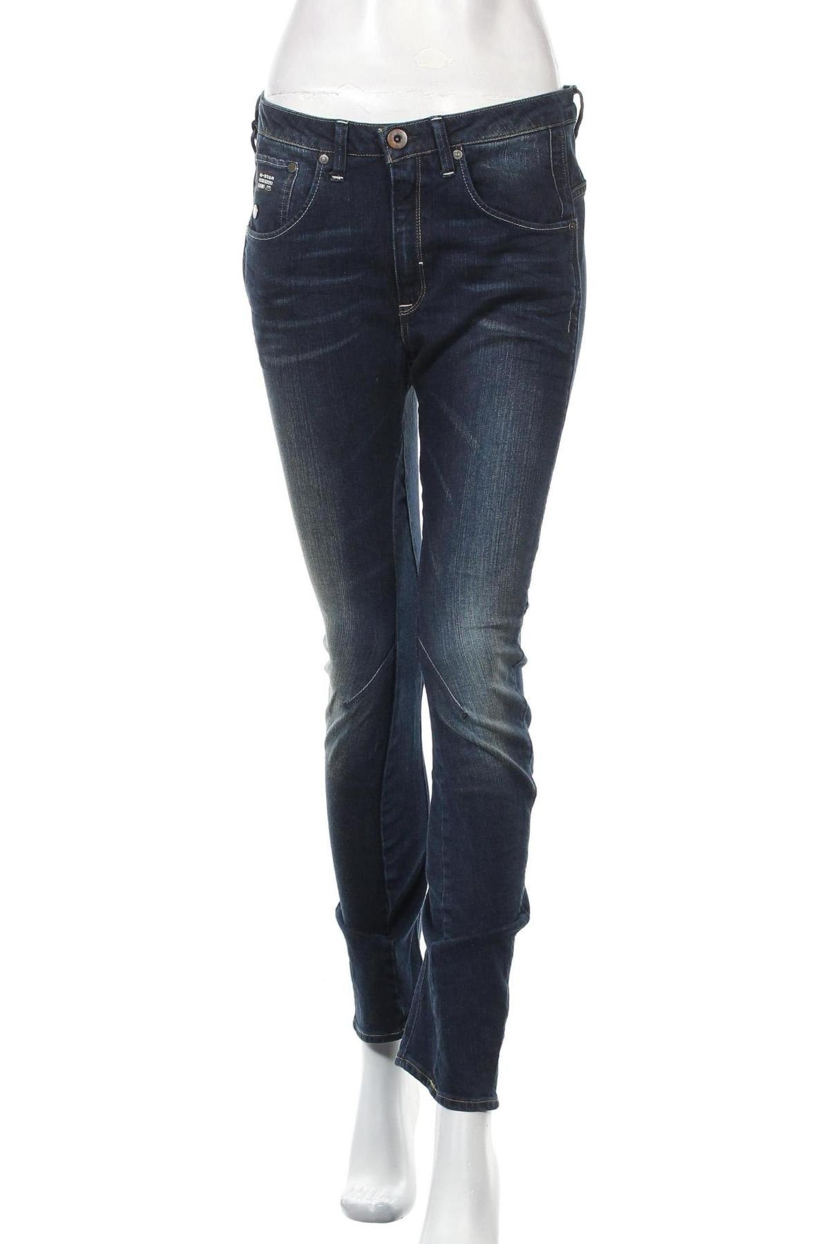 Дамски дънки G-Star Raw, Размер M, Цвят Син, 99% памук, 1% еластан, Цена 41,59лв.