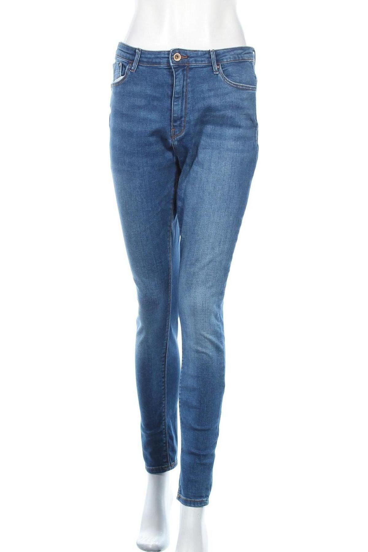 Дамски дънки ONLY, Размер L, Цвят Син, 98% памук, 2% еластан, Цена 37,17лв.