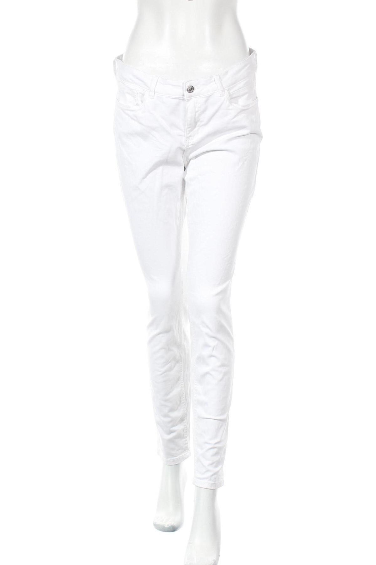 Дамски дънки Tom Tailor, Размер L, Цвят Бял, 98% памук, 2% еластан, Цена 34,20лв.