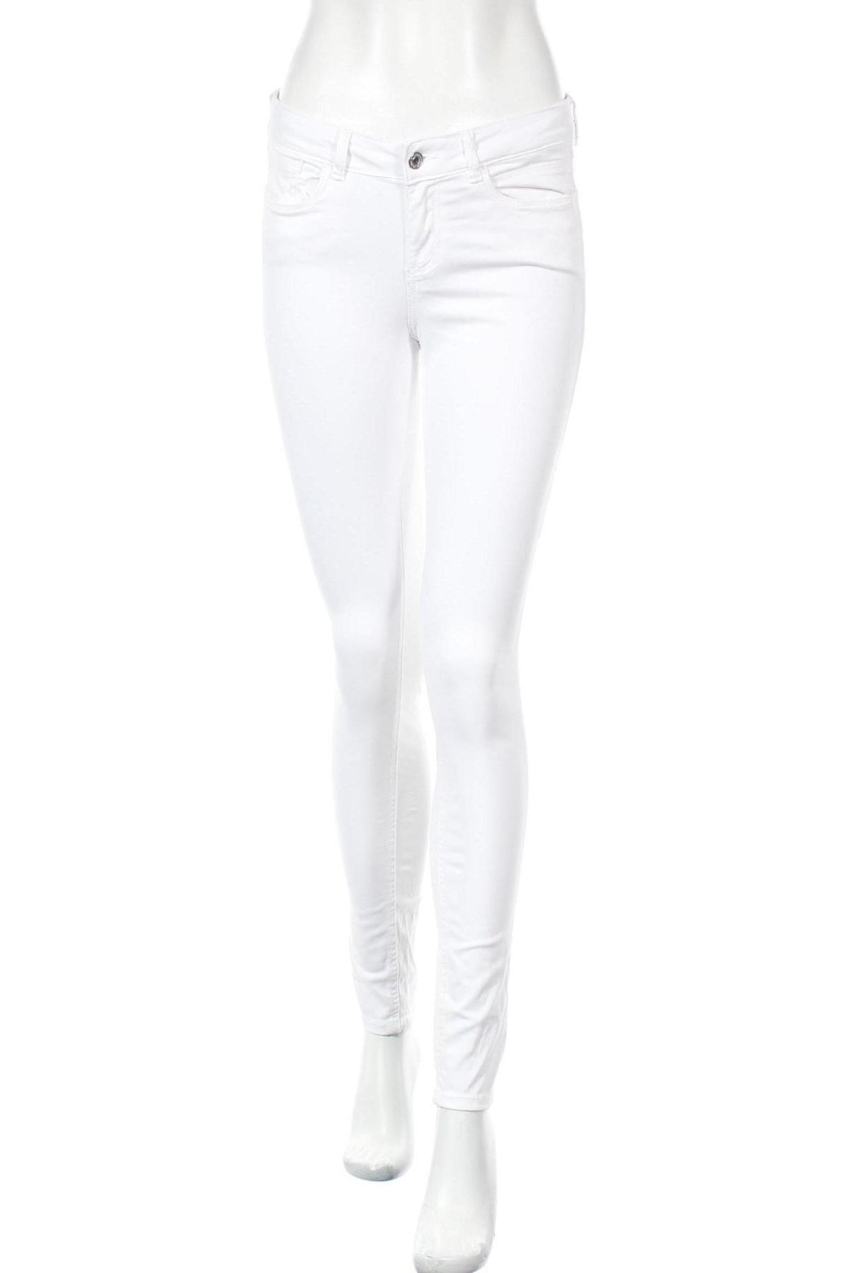Дамски дънки Tom Tailor, Размер S, Цвят Бял, 98% памук, 2% еластан, Цена 34,20лв.