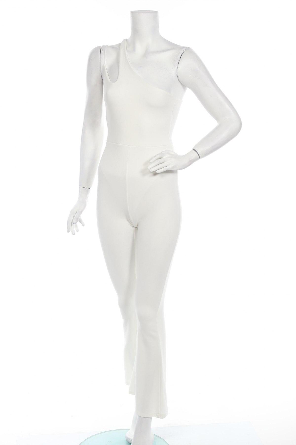 Дамски гащеризон Boohoo, Размер XS, Цвят Екрю, 95% полиестер, 5% еластан, Цена 17,48лв.