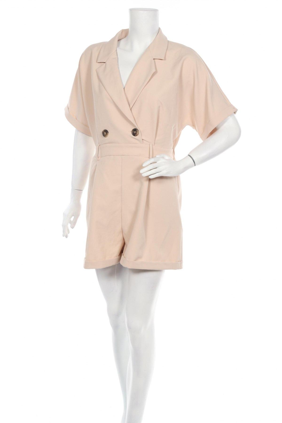 Γυναικεία σαλοπέτα Trendyol, Μέγεθος M, Χρώμα  Μπέζ, 96% πολυεστέρας, 4% ελαστάνη, Τιμή 23,12€
