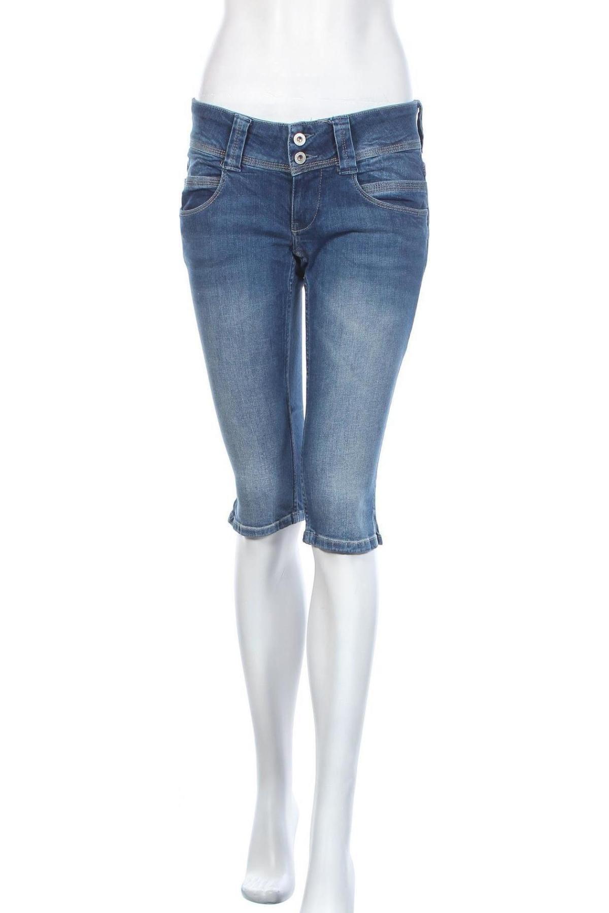 Γυναικείο κοντό παντελόνι Pepe Jeans, Μέγεθος M, Χρώμα Μπλέ, 98% βαμβάκι, 2% ελαστάνη, Τιμή 38,27€