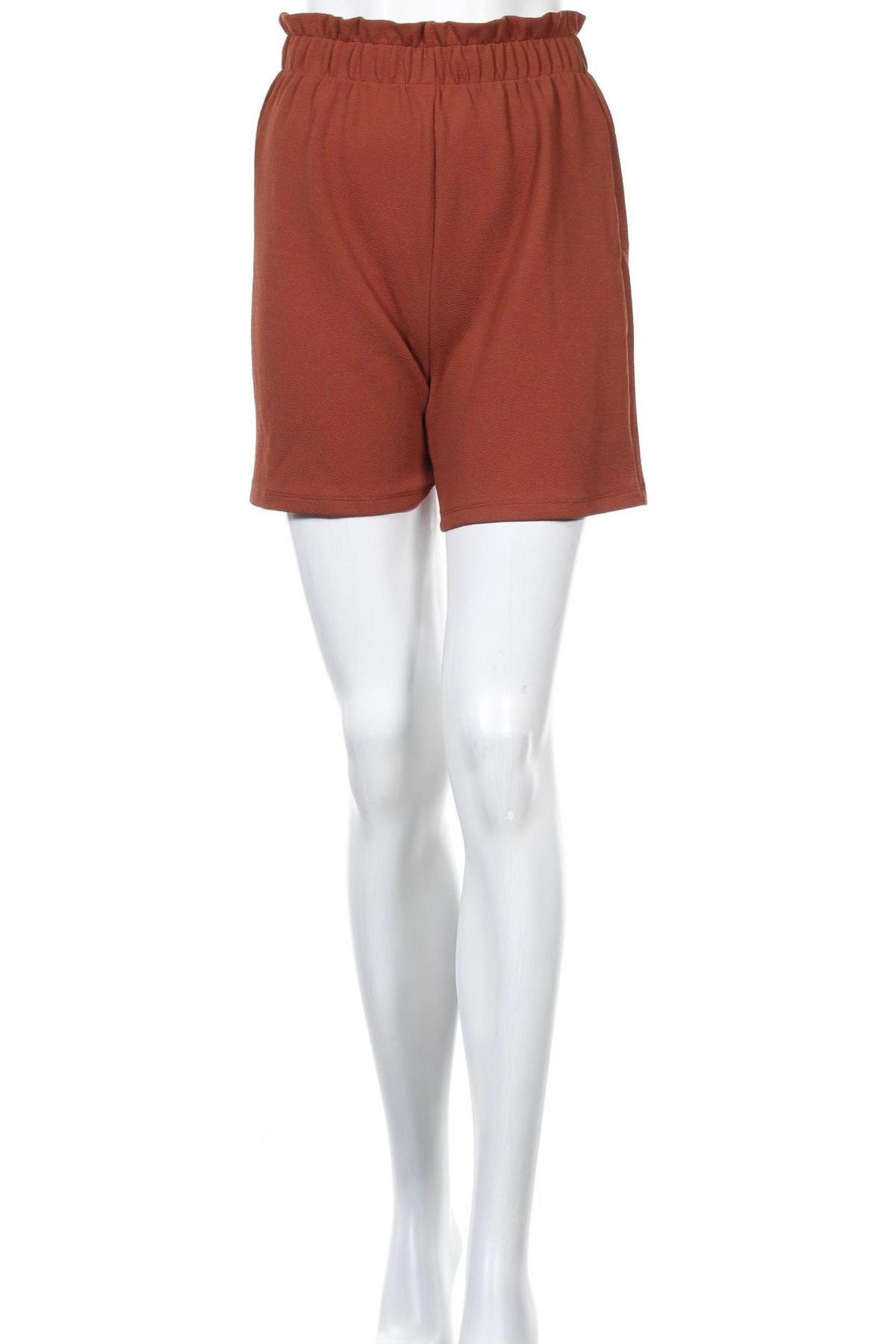 Дамски къс панталон Vero Moda, Размер XS, Цвят Кафяв, 95% полиестер, 5% еластан, Цена 33,00лв.