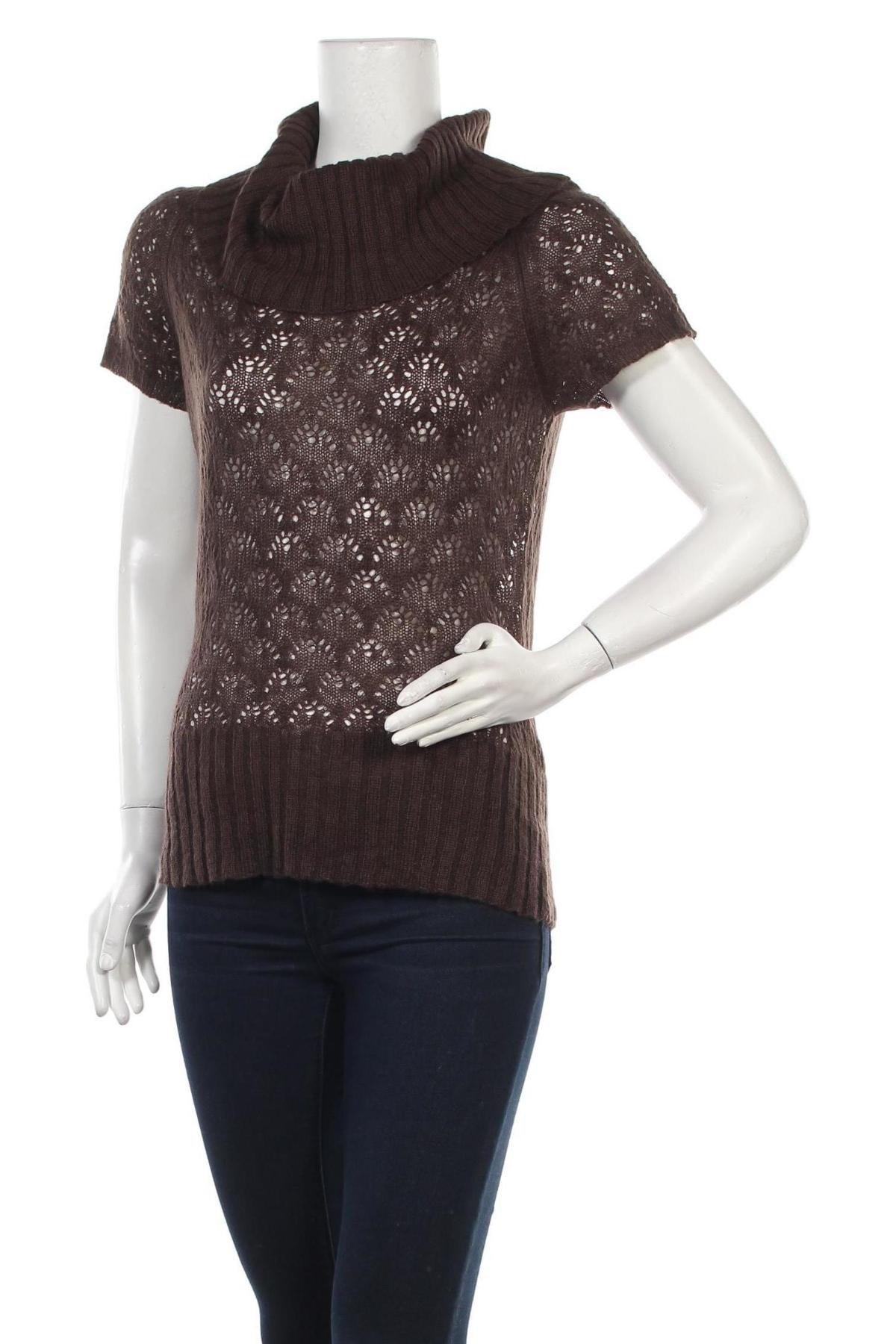 Дамски пуловер Oviesse, Размер M, Цвят Кафяв, 75% акрил, 25% мохер, Цена 5,72лв.