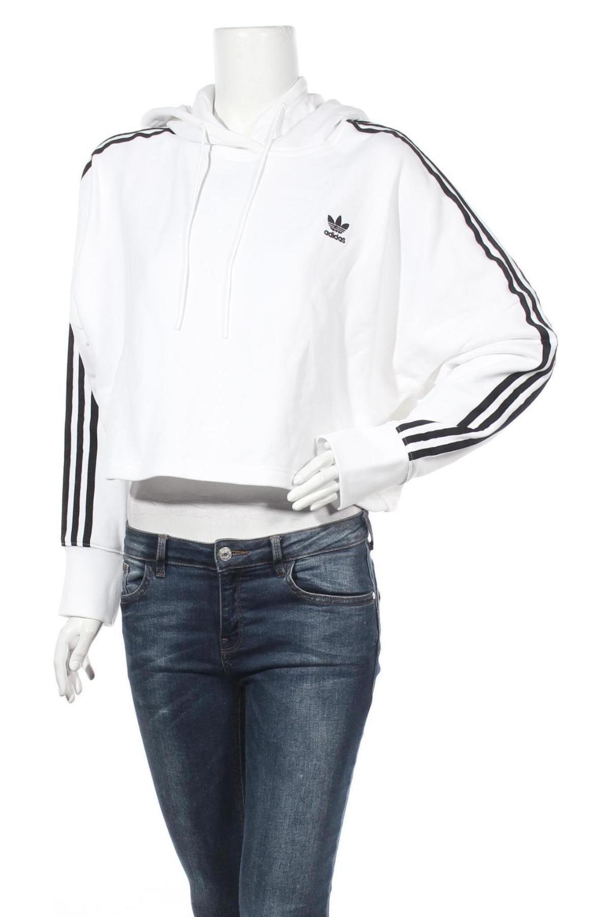 Дамски суичър Adidas Originals, Размер M, Цвят Бял, Памук, Цена 63,70лв.