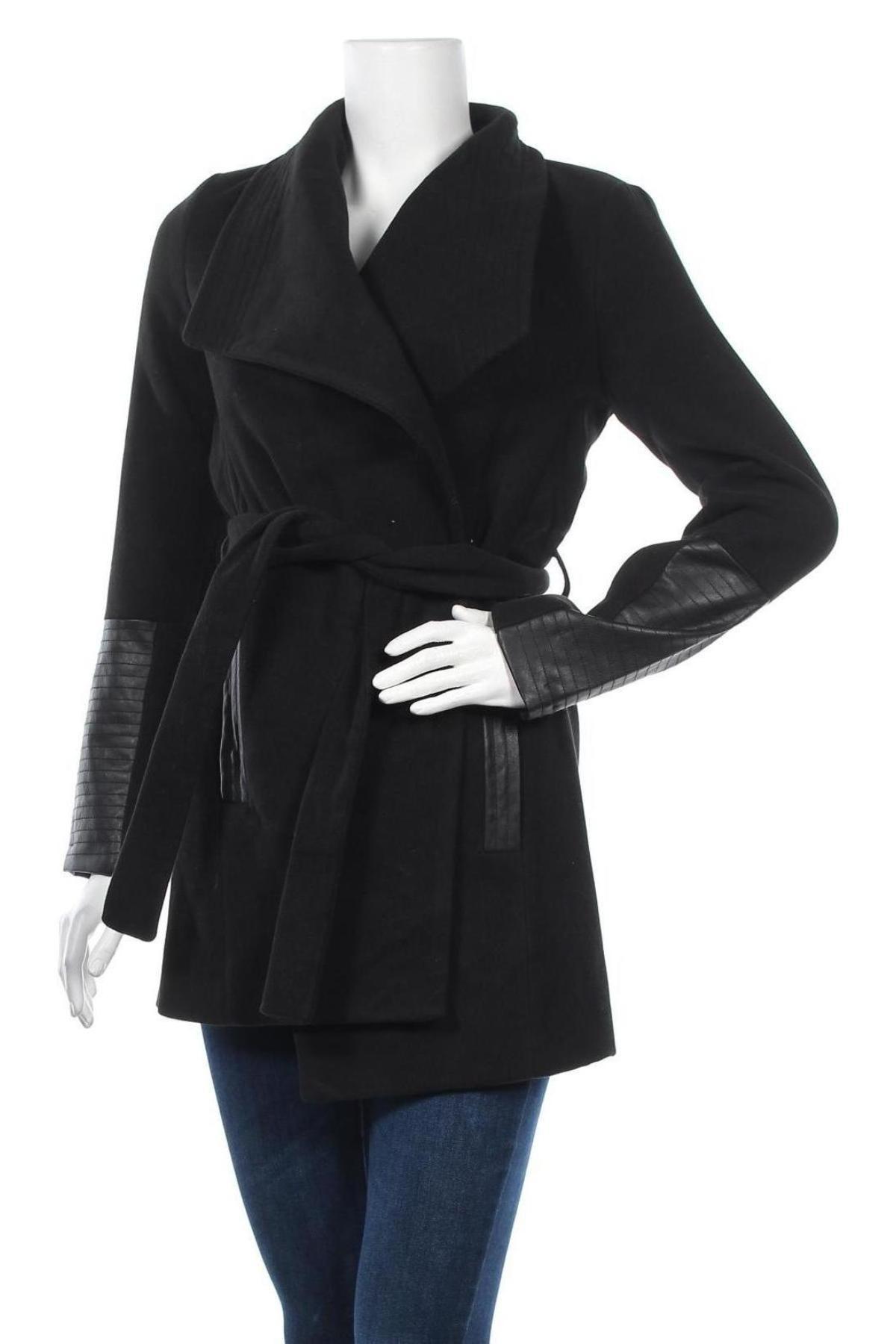 Дамско палто Vero Moda, Размер M, Цвят Черен, 89% полиестер, 10% вискоза, 1% еластан, Цена 48,48лв.