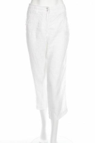 Дамски панталон Anne L., Размер M, Цвят Бял, Лен, Цена 3,06лв.