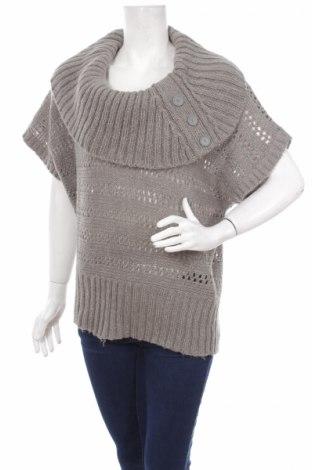 Дамски пуловер Yessica, Размер S, Цвят Сив, Акрил, метални нишки, Цена 4,84лв.