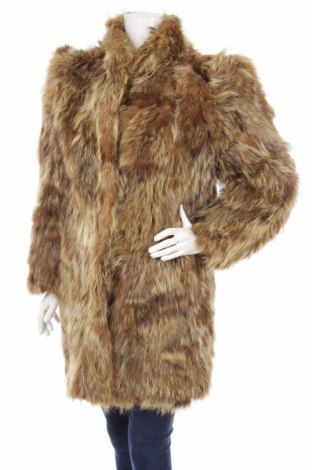 Damski skórzany płaszcz