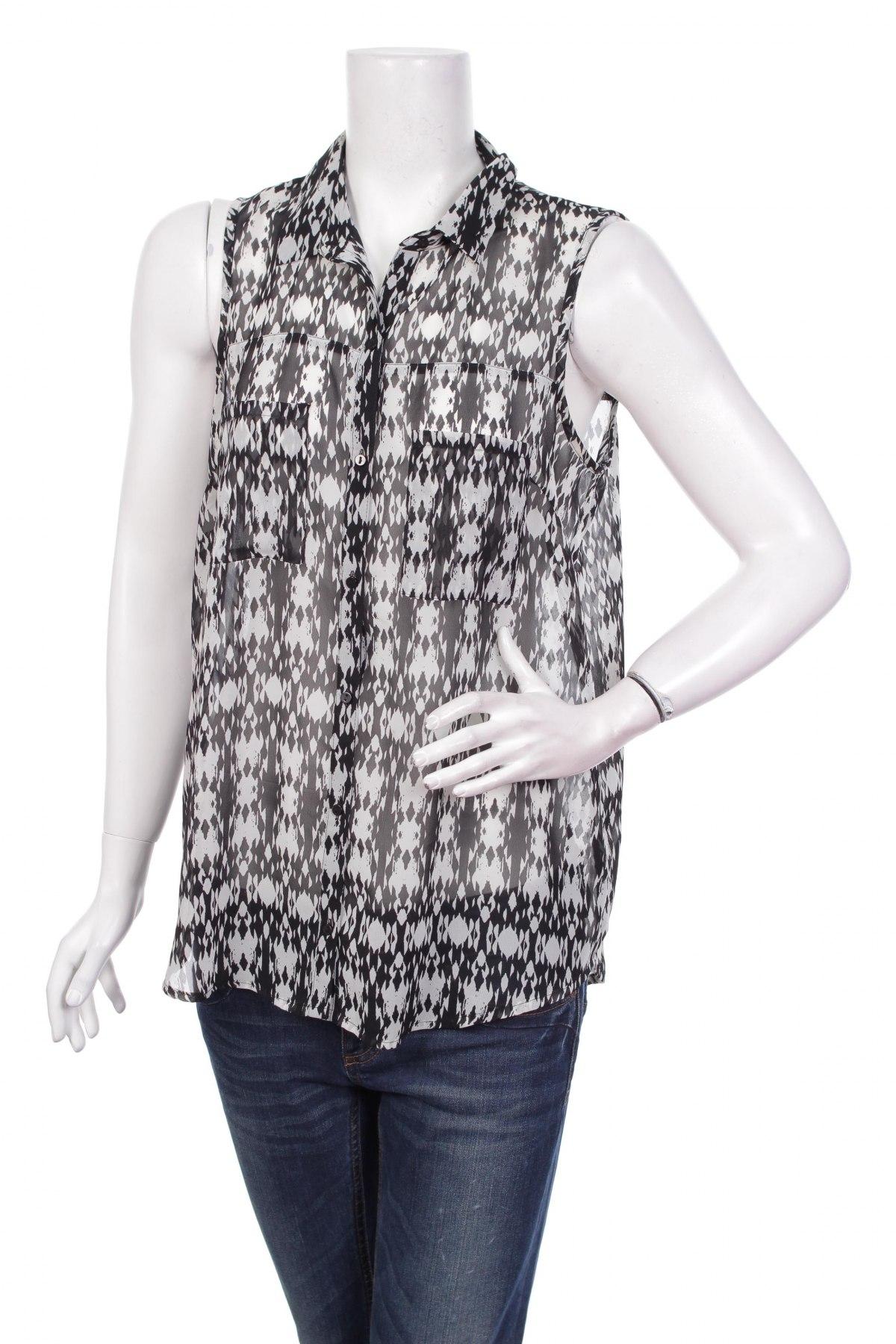 Γυναικείο πουκάμισο Pimkie, Μέγεθος L, Χρώμα Μαύρο, Τιμή 9,90€