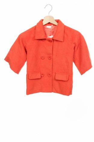 Детско палто, Размер 6-7y/ 122-128 см, Цвят Оранжев, 20% вискоза, 80% други тъкани, Цена 32,03лв.