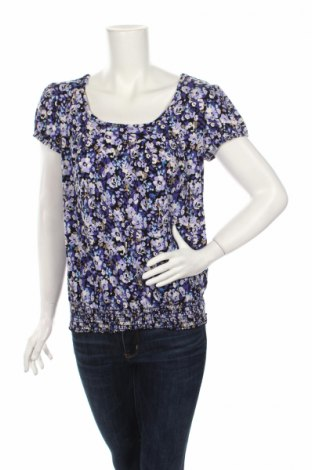 Дамска блуза Agb, Размер M, Цвят Многоцветен, 92% полиестер, 8% еластан, Цена 7,64лв.