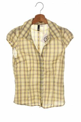 Дамска риза H&M Divided, Размер XS, Цвят Жълт, Памук, Цена 5,50лв.