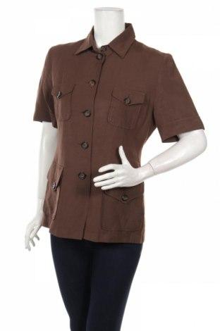 Дамска риза Jones, Размер M, Цвят Кафяв, 50% лен, 50% вискоза, Цена 8,32лв.