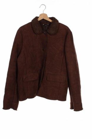Детско палто Lands' End, Размер 15-18y/ 170-176 см, Цвят Кафяв, Акрил, полиестер, Цена 24,40лв.