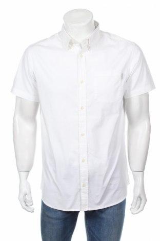 Мъжка риза Jack & Jones, Размер L, Цвят Бял, 97% памук, 3% еластан, Цена 25,97лв.