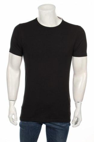 Мъжка тениска Jack & Jones, Размер S, Цвят Черен, 92% памук, 8% еластан, Цена 20,67лв.