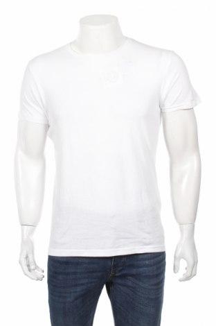 Мъжка тениска Pull&Bear, Размер M, Цвят Бял, 100% памук, Цена 15,36лв.