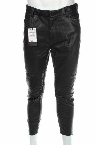 Мъжки кожен панталон Zara Man
