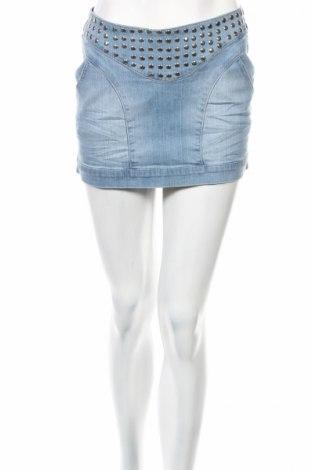 Φούστα Cherry Diffusion, Μέγεθος S, Χρώμα Μπλέ, 96% βαμβάκι, 4% ελαστάνη, Τιμή 7,52€