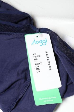 Бикини Sloggi, Размер M, Цвят Син, 46% полиамид, 42% памук, 12% еластан, Цена 21,75лв.