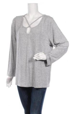 Дамска блуза Beme, Размер S, Цвят Сив, Вискоза, полиестер, еластан, Цена 16,09лв.