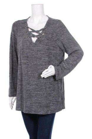 Дамска блуза Beme, Размер XS, Цвят Сив, Вискоза, полиестер, еластан, Цена 7,14лв.