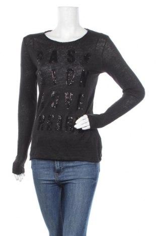 Γυναικεία μπλούζα MOS MOSH, Μέγεθος M, Χρώμα Μαύρο, Λινό, Τιμή 22,86€