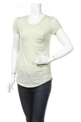 Γυναικεία μπλούζα Poof, Μέγεθος M, Χρώμα Πράσινο, 60% βαμβάκι, 35% βισκόζη, 5% ελαστάνη, Τιμή 3,86€