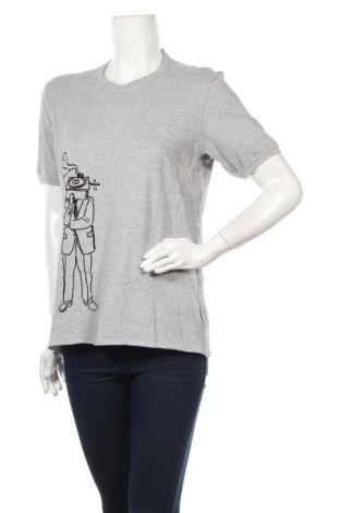 Γυναικεία μπλούζα Sisley, Μέγεθος S, Χρώμα Γκρί, Βαμβάκι, Τιμή 9,60€