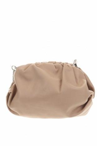 Дамска чанта Anna Morellini, Цвят Бежов, Естествена кожа, Цена 137,00лв.