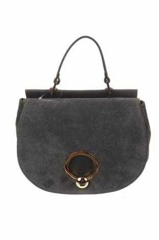 Дамска чанта Coccinelle, Цвят Сив, Естествена кожа, естествен велур, Цена 276,08лв.