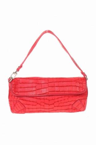 Дамска чанта DKNY, Цвят Червен, Естествена кожа, Цена 61,85лв.