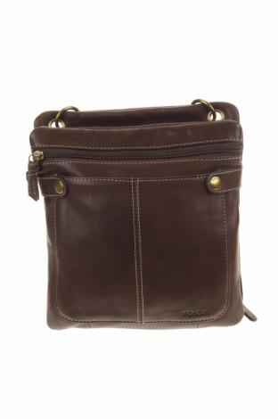 Дамска чанта Fossil, Цвят Кафяв, Естествена кожа, Цена 55,76лв.
