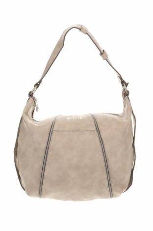 Дамска чанта Mustang, Цвят Бежов, Еко кожа, Цена 27,93лв.