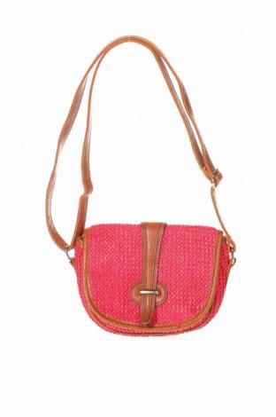 Дамска чанта Sportsgirl, Цвят Червен, Текстил, еко кожа, Цена 7,09лв.