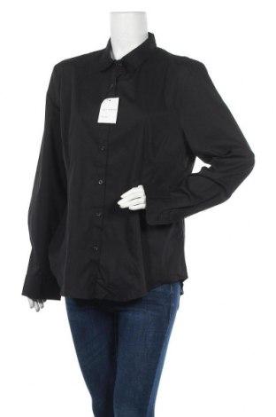 Дамска риза Life Time, Размер XL, Цвят Черен, 68% памук, 30% полиестер, 4% еластан, Цена 15,12лв.